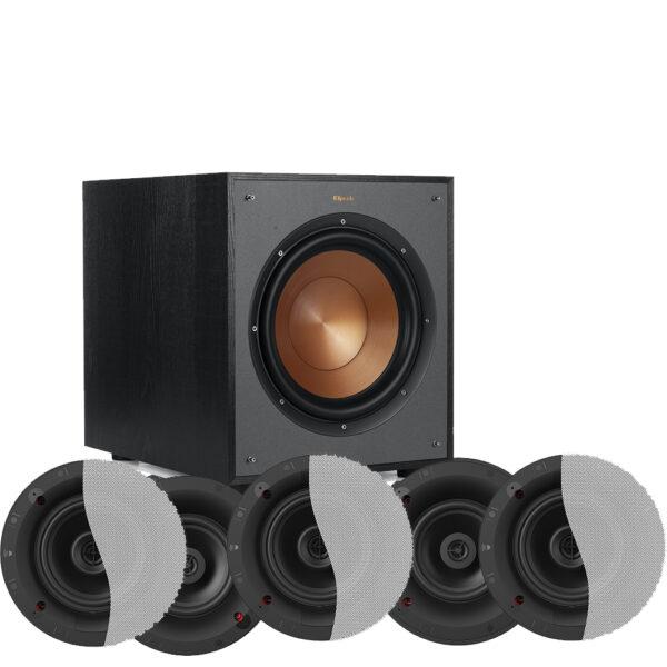 Klipsch 5.1 Designer Series DS-160CDT In-Ceiling Speaker Package