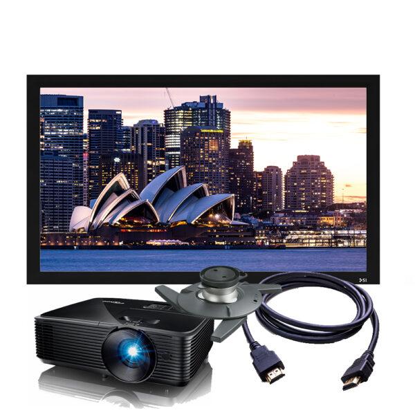 Optoma HD28E 4K Projector & Screen Package
