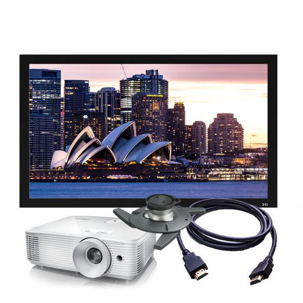 Optoma HD30 4K Projector & Screen Package