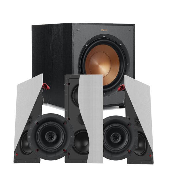 Klipsch 5.1 Designer Series DS-250W LCR In-Wall Speaker Package
