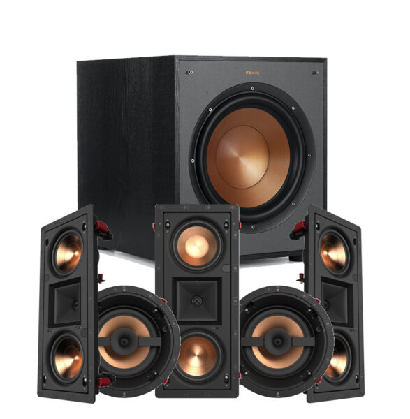 5.1 Reference Series Klipsch PRO-25RW LCR In-Wall Speaker Package
