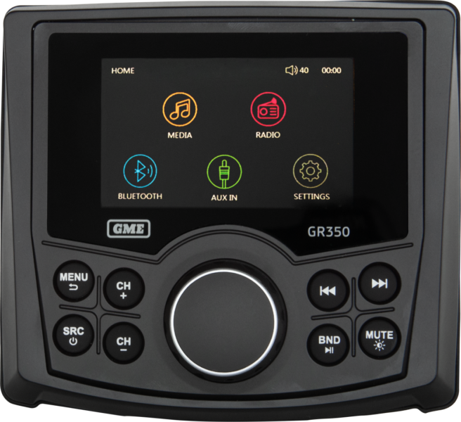 GME AM/FM IP54 Compact Marine Stereo with Bluetooth