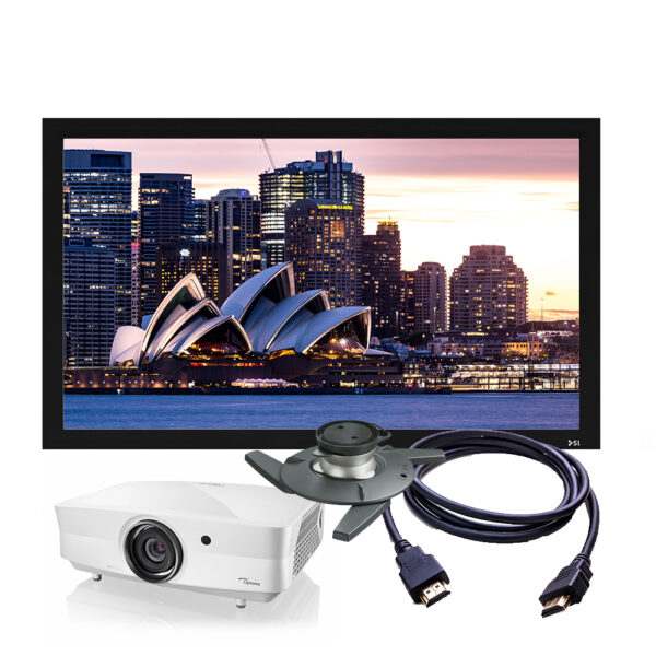 Optoma ZK507 4K Laser Projector & Screen Package