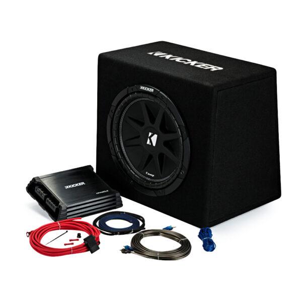 Kicker 44KKP212 12″ Ported Enclosure + Amp + Wiring Kit