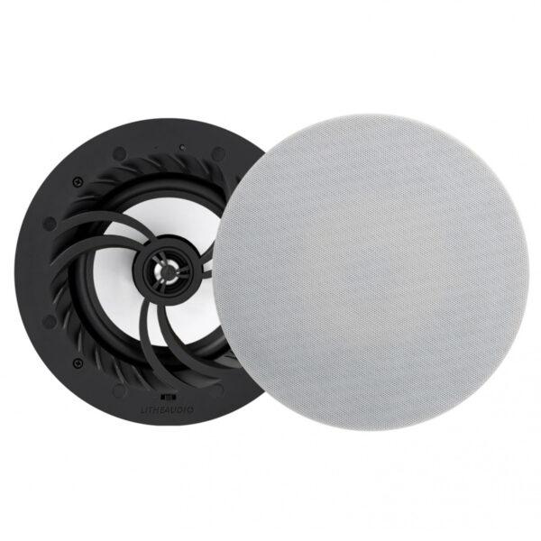 Lithe Audio WiFi All-In-One IP44 Multi-Room Bathroom Ceiling Speakers (PAIR – Master/Passive)