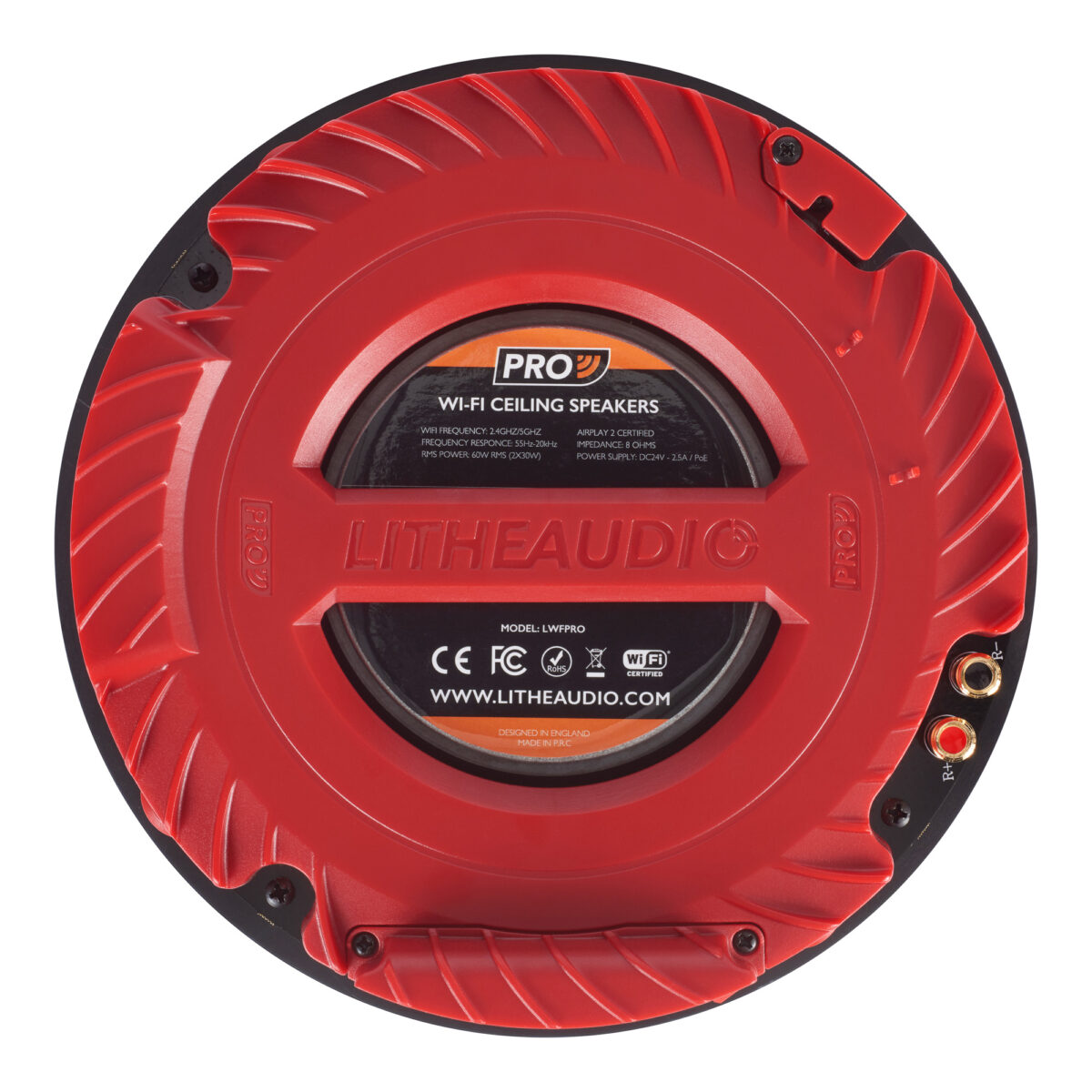 Lithe Audio Pro Series Ip44 Bathroom Wi Fi Ceiling Speaker (single) 1 Life Style Store