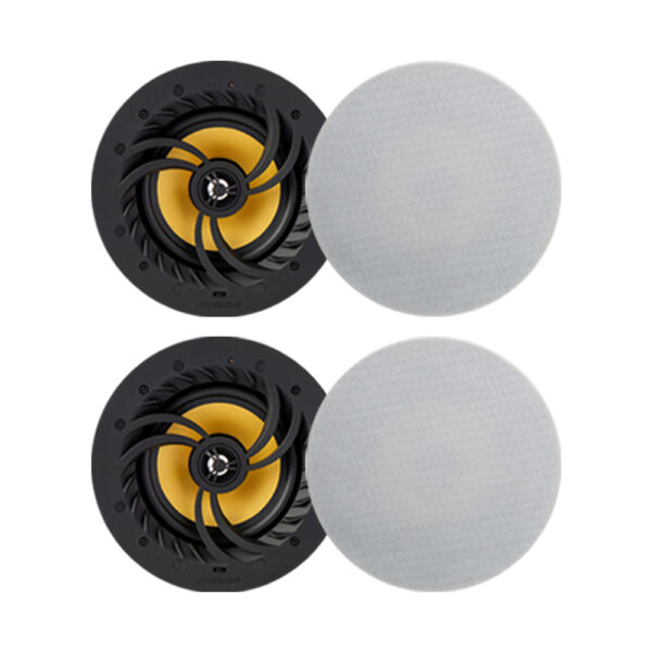 Lithe Audio Bluetooth 5 Wireless 6.5″ Ceiling Speaker (2 Master and 2 Passives)
