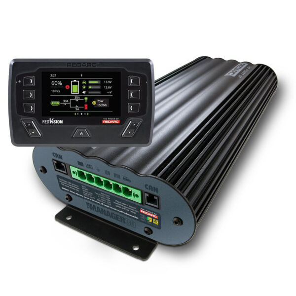 REDARC BMS1230S3R 30A Battery Management System w/ Li Charging & RedVision Display