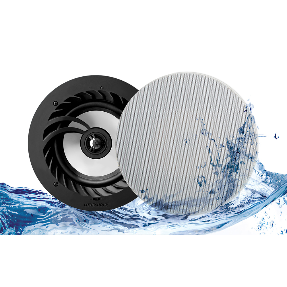 Pair Bathroom Lithe Audio Ip Rated Bluetooth Ceiling Speaker Pair Splash