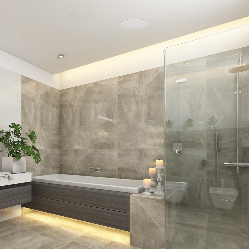 Pair Bathroom Lithe Audio Ip Rated Bluetooth Ceiling Speaker Pair Splash[3]
