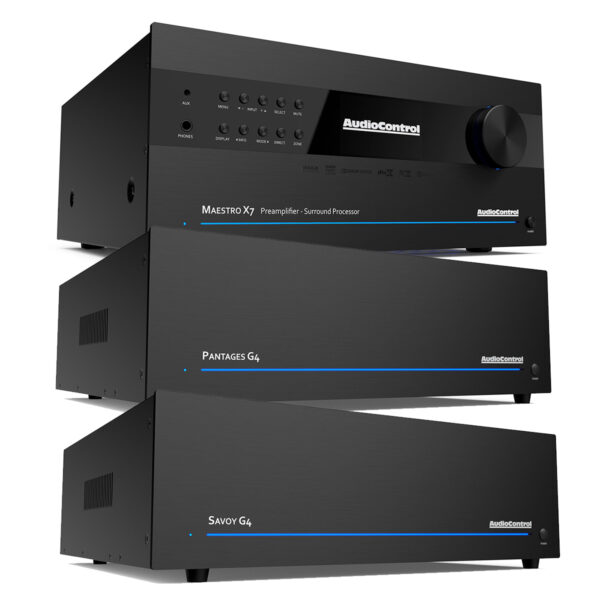 Audio Control Maestro X7 A/V Processor + Pantages G4 + Savoy G4 – 12 Channels of Power