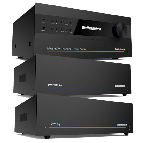Audio Control Maestro X9 A/V Processor + Pantages G4 + Savoy G4 – 12 Channels of Power
