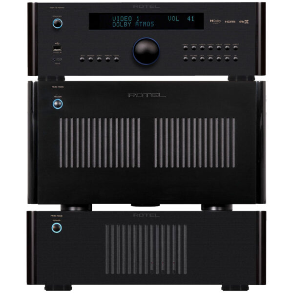 Rotel RSP1576 MkII + RMB1585 + RMB1506  – 11 Channels of Power