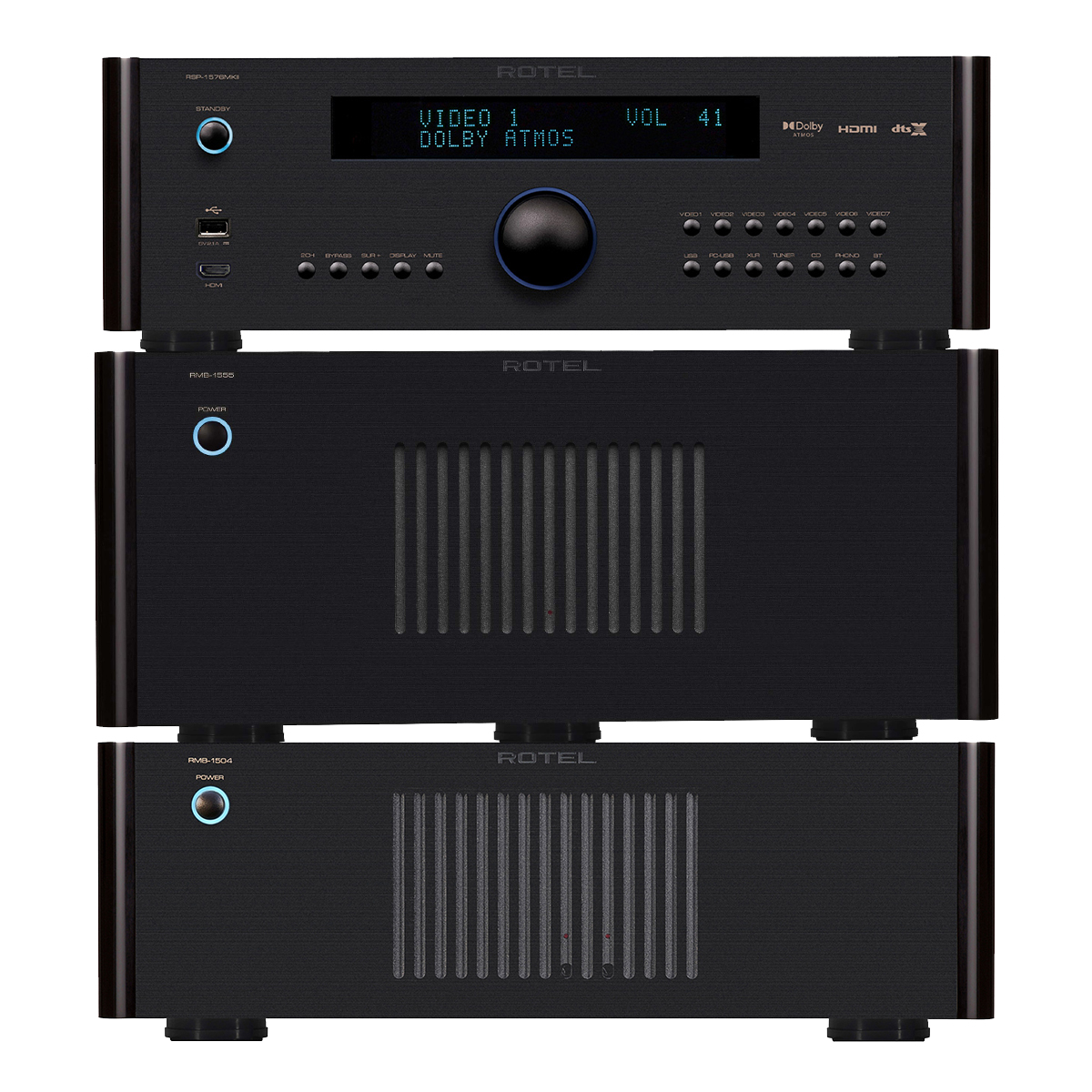 Rotel Rsp1576 Mkii + Rmb1555 + Rmb1504 Package Life Style Store