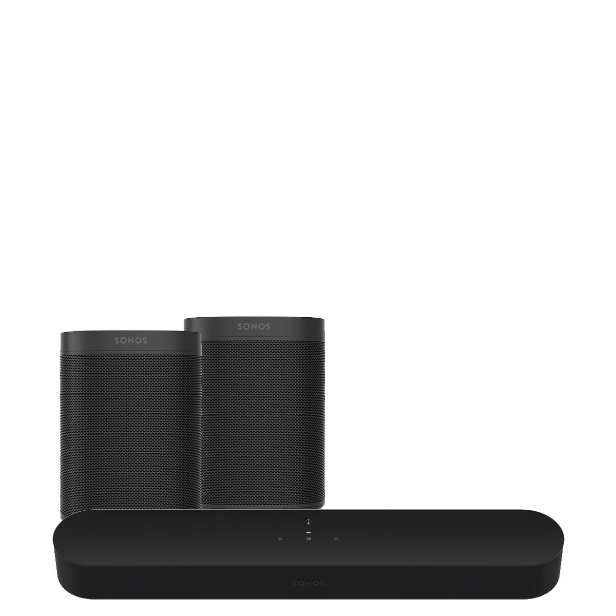 Sonos Beam Speaker Soundbar Pack Life Style Store Black