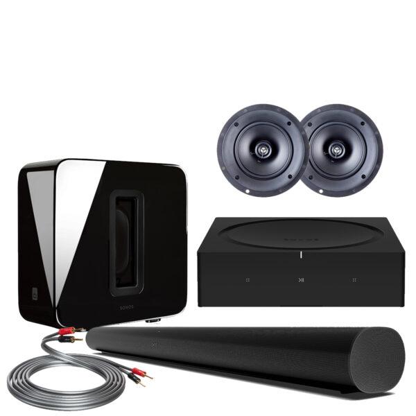 Sonos ARC Custom Surround Pack w/ Paradigm In-Ceiling Speakers