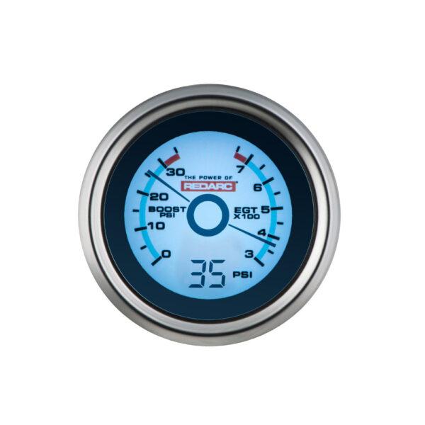 REDARC G52-BEP EGT & Boost Pressure 52MM Gauge With Optional Oil Pressure Display