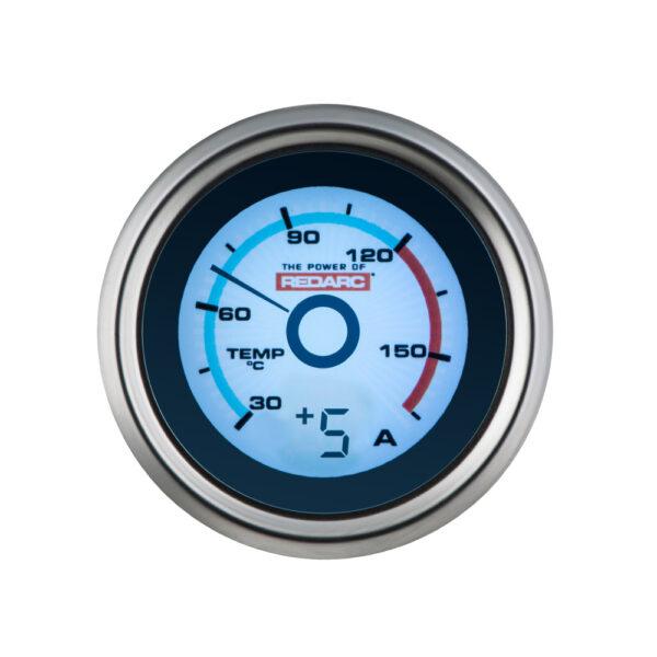 REDARC G52-TA Single Temperature 52MM Gauge With Optional Current Display