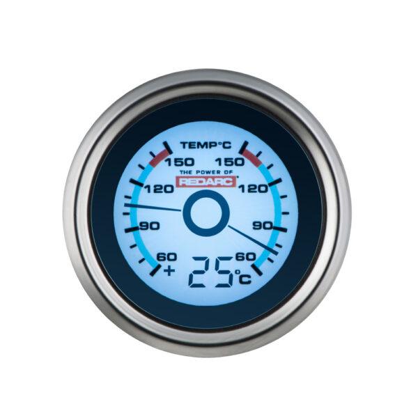 REDARC G52-TTT Dual Temperature 52MM Gauge With Optional Temperature Display