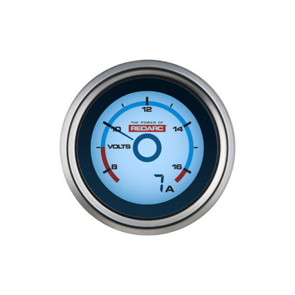 REDARC G52-VA Single Voltage 52MM Gauge With Optional Current Display