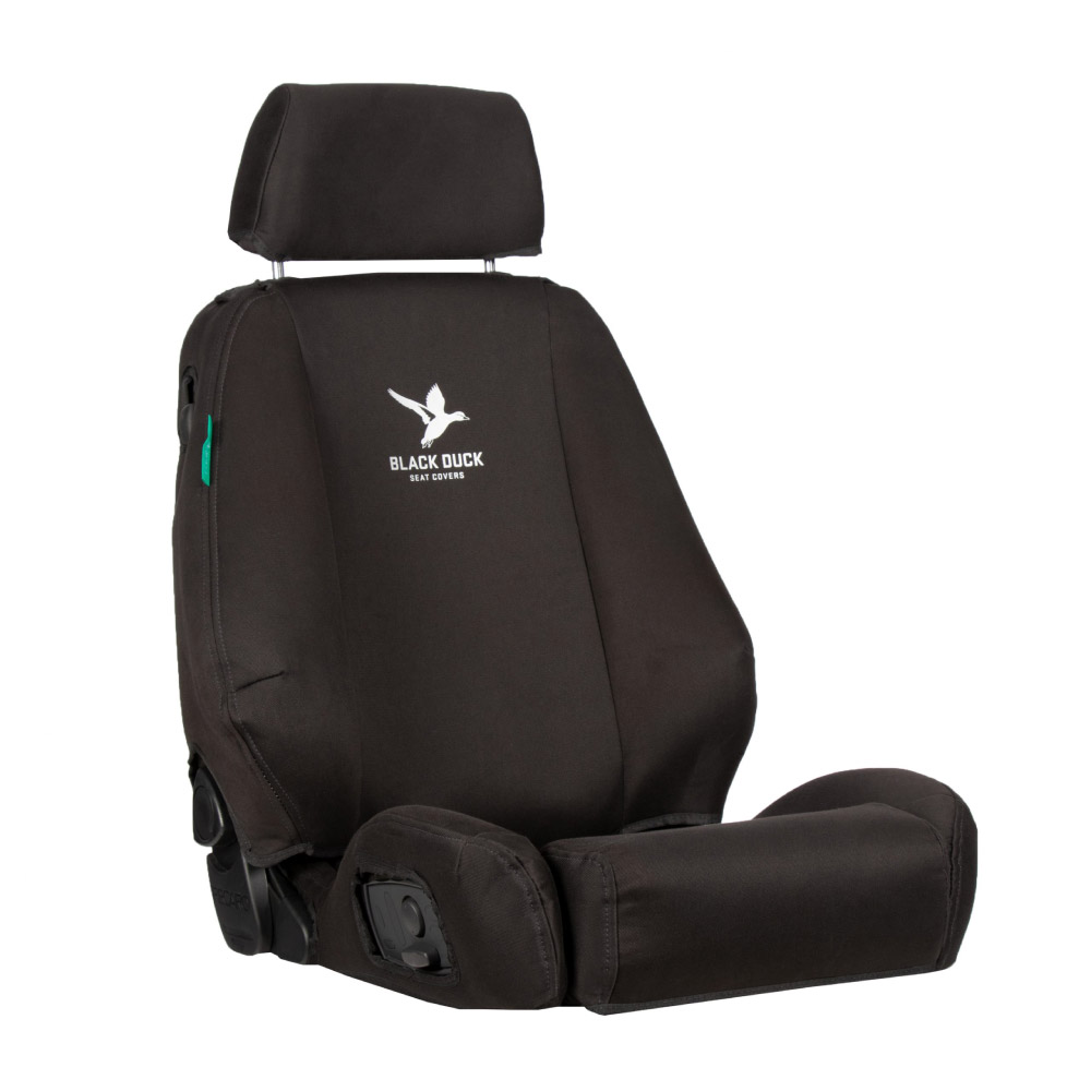 Black Duck Seat Cover Black Denim, 1000x1000