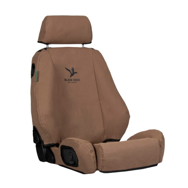 Black Duck Seat Covers 200 Series Sahara 10/2015 Front Bucket Driver ACC SCR AB w/Map