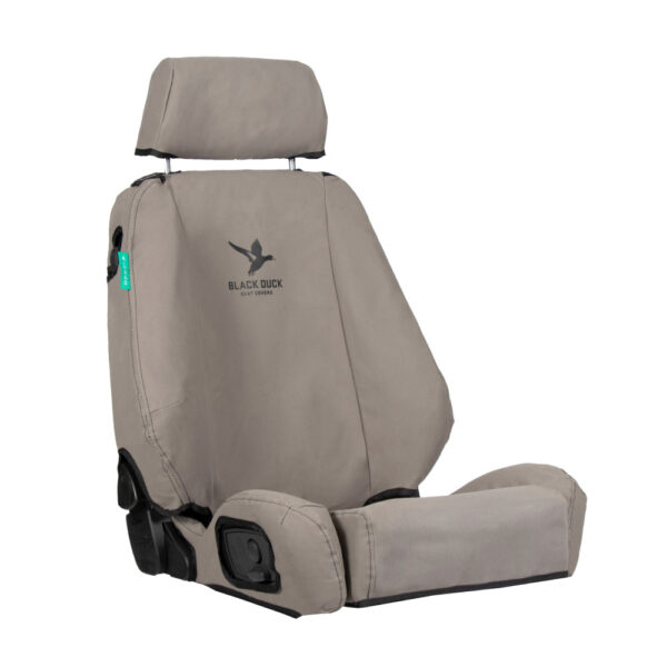 Black Duck Seat Covers DMAX Dual Cab/Single Cab – Grey
