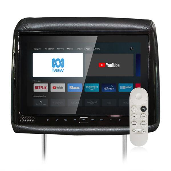 HiTV V900 9″ Universal Structure In-Car DVD Headrest Plus Smart TV